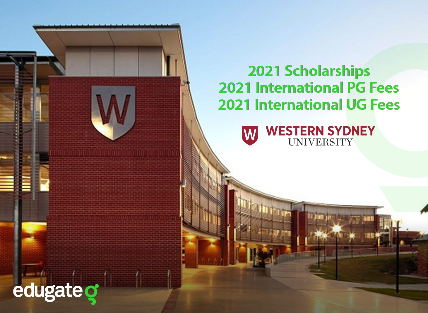 Western Sydney 2021 international scholarship